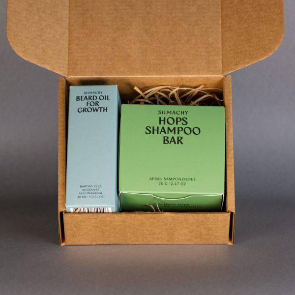 bārdas eļļa šampūnziepes